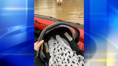 Family with 5-week-old rescued from their Morgan home after heavy flooding