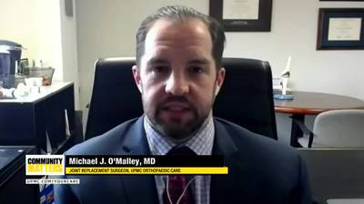 UPMC Community Matters: Dr. Michael O'Malley talks about robotic-assisted joint replacement surgery