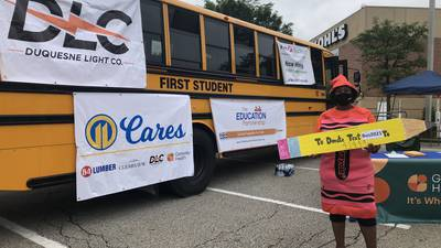 11 Cares and its partners Pack the Bus with school supplies
