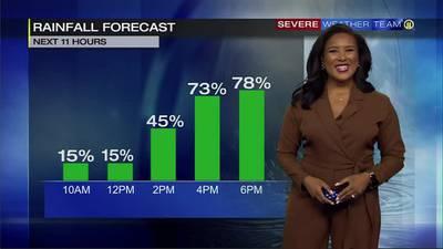 Widespread showers return Sunday