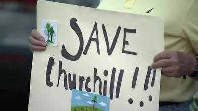 Churchill residents protest against proposed Amazon warehouse