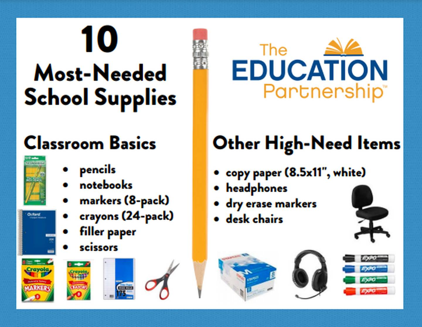 10 most needed school supplies in Pittsburgh