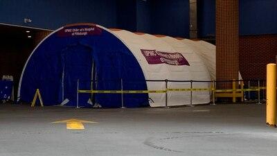 UPMC Children's Hospital puts up tent to help treat influx of patients