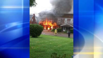 PHOTOS: Firefighters battle blaze at apartment building in Beaver County