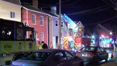 Firefighter hurt while battling flames at Sharpsburg duplex