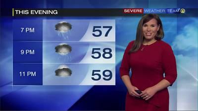 Keep umbrella handy as rain pushes through Sunday evening