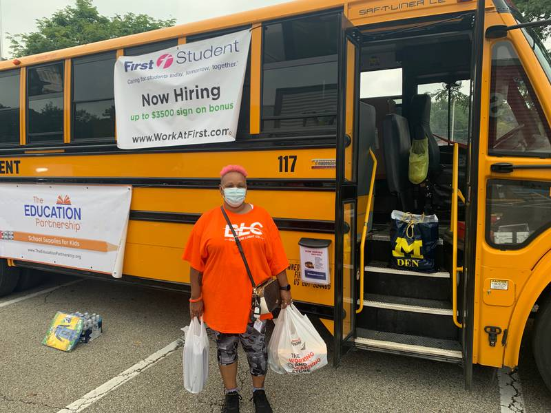 School supplies and people donating them