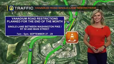 TRAFFIC: Vanadium Road single-lane restrictions (9/14/21)