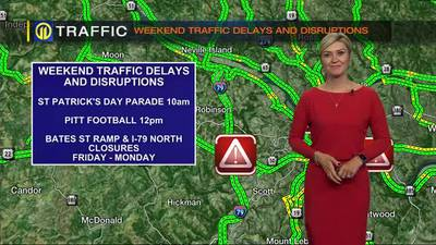 TRAFFIC: Weekend traffic delays and disruptions (9/17/21)