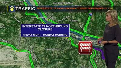 TRAFFIC: Interstate 79 northbound weekend closure