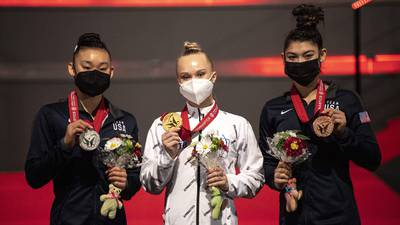 Photos: Leanne Wong, Kayla DiCello win silver, bronze at Gymnastics World Championships