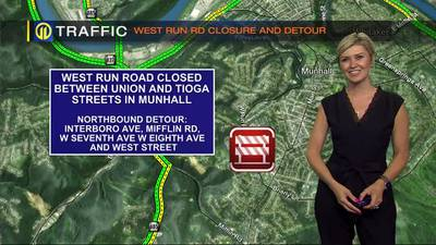 West Run Road Closed Between Union and Tioga Streets In Munhall