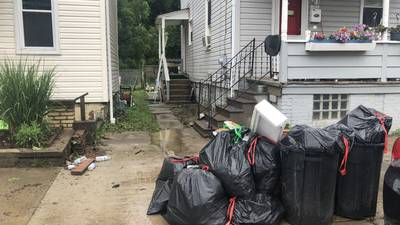 Neighbors across the area are still cleaning up after strong storms came through on Wednesday